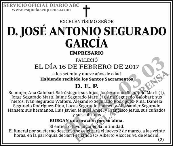 José Antonio Segurado García